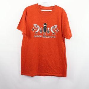 90s Mens Medium Kokopelli Alien Roswell NM T Shirt